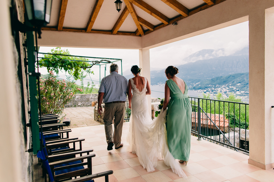 Villa wedding in Tivat Bay