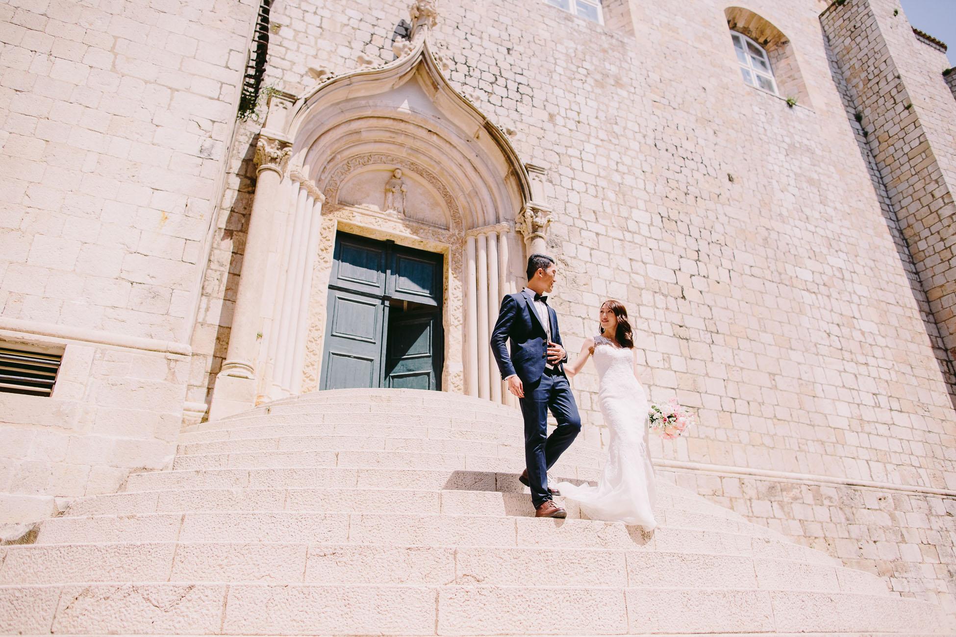 Prewedding photoshoot in Dubrovnik Croatia